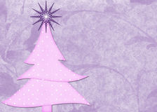 Pink Tree on Purple Background Stock Images