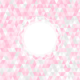Pink triangle background Stock Images