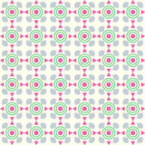 Pink Triangle and Circle and Curve Cup Pattern on Pastel Backgro Royalty Free Stock Photos