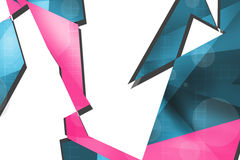 Pink triangle overlap top side, abstract background Royalty Free Stock Photography
