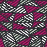 Pink triangle seamless pattern with grunge effect Royalty Free Stock Photography