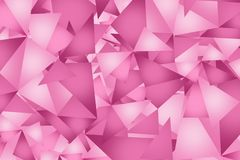 Pink Triangles Background Stock Photos