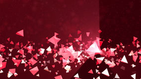 Pink triangular abstract background stock footage