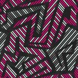 Pink tribal geometric seamless pattern Stock Photos