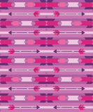Pink tribal seamless pattern with arrow Royalty Free Stock Photos