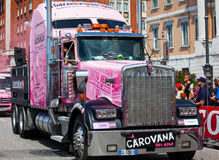 Pink truck Stock Images
