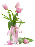 Pink tulips posy Royalty Free Stock Photography
