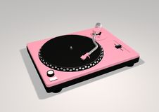 Pink Turntable stock photography