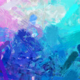 Pink and turquoise brush strokes Stock Photo