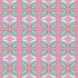 Pink and turquoise floral pattern Royalty Free Stock Photo