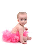 Pink Tutu. Baby with pink tutu white background Stock Photography