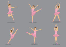 Pink Tutu Ballerina Vector Icon Set Royalty Free Stock Image