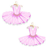 Pink tutu on the hanger Royalty Free Stock Images