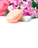 pink tvål Royaltyfri Foto