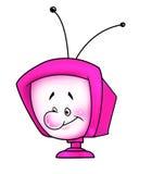 Pink TV - monitor Stock Photo