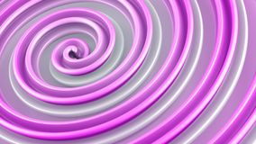 Pink twisted 3D shape abstract rendering Royalty Free Stock Photo