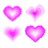 Pink twisted heart Royalty Free Stock Photos