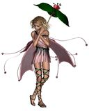 Pink Umbrella Fairy - 2 Stock Image