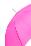 Pink Umbrella Isolated on a White Background Stock Images
