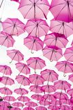 Pink umbrella. S to raise awareness about breast cancer Stock Photo