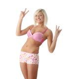Pink underwear Royalty Free Stock Photos