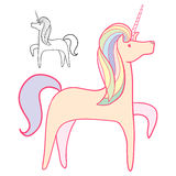 Pink Unicorn Royalty Free Stock Photo