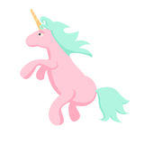 Pink unicorn vector isolated illustration. Stock Photography