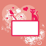Pink Valentine background Royalty Free Stock Photos