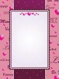 Pink valentine background Stock Photos