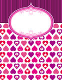 Pink valentine background Stock Photos