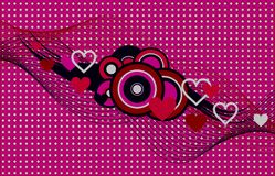 Pink valentine background Stock Images
