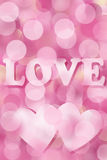 Pink valentine background with bokeh effect Royalty Free Stock Images