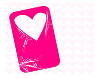 Pink Valentine Banner Royalty Free Stock Photography