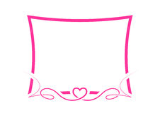 Pink Valentine border Royalty Free Stock Images