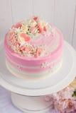 Pink Valentine Cake Stock Photos