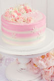 Pink Valentine Cake Stock Photo