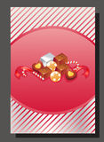 Pink valentine chocolate. Card for valentine event chocolate. file in eps 10 file, with no gradient meshes,blends,opacity, stroke path,brushes.Also all elements royalty free illustration