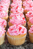 Pink Valentine Cupcakes with Sprinkles Royalty Free Stock Photography