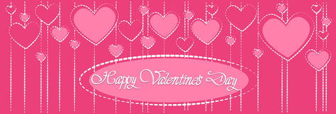Pink Valentine Day Gift Card Holiday Love Heart Shape Royalty Free Stock Images