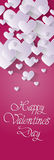 Pink Valentine Day Gift Card Holiday Love Heart Shape Royalty Free Stock Photo