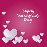 Pink Valentine Day Gift Card Holiday Love Heart Shape Stock Photo