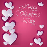 Pink Valentine Day Gift Card Holiday Love Heart Shape Royalty Free Stock Photography