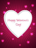 Pink valentine day greeting with bursting heart Stock Photos