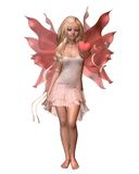 Pink Valentine Fairy - 1. Digital render of a pink valentine fairy holding a heart Stock Images