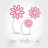Pink valentine flowers. Valentine concept Stock Photos