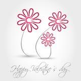 Pink valentine flowers Stock Photos