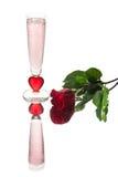 Pink Valentine Flute Stock Images