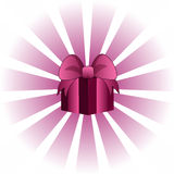 Pink Valentine Giftbox Royalty Free Stock Images