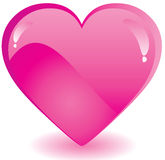 Pink Valentine heart Stock Image