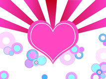 Pink valentine heart Stock Images